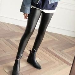 NECTARY - Fleece Lined Faux Leather Leggings
