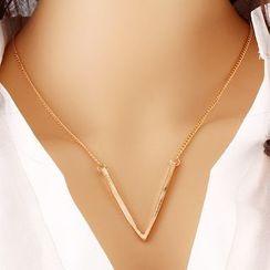 Darlin - Metal-Accent Necklace