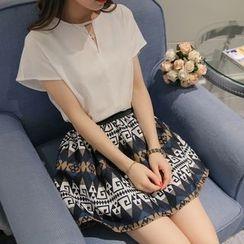 Q.C.T - Print A-Line Skirt