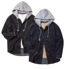 Seoul Homme - Hooded Denim Jacket