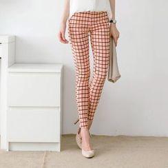 Tokyo Fashion - Plaid Skinny Pants
