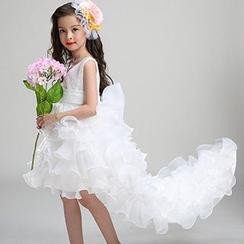 HELLO BABY - Kids Sleeveless Ruffle High-Low Dress