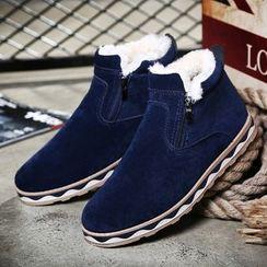 ESMODO - Fleece-lined Zip Ankle Boots