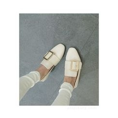 ATTYSTORY - Square-Toe Buckled Flats