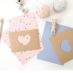 Full House - Set: Printed Writing Paper + Envelope
