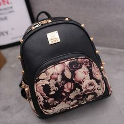 Nautilus Bags - Floral Studded Backpack