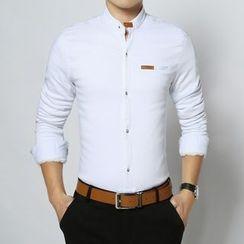 RUYA - Long-Sleeve Fleece-Lined Paneled Shirt