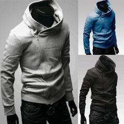 Free Shop - Side Zip Tab Collar Jacket