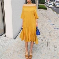 LIPHOP - Off-Shoulder Long Dress