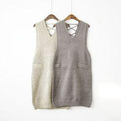 Polaris - Cross Back Long Knit Vest