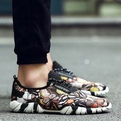 Shino - Printed Lace-Up Sneakers