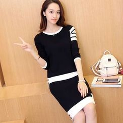 Bubbleknot - Set: Color Block Sweater + Skirt