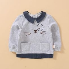 MiiOW - Kids Embroidered Long-Sleeve Top