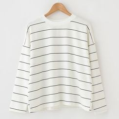 Meimei - Long-Sleeve Striped T-Shirt