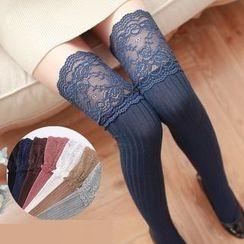 Coshield - Lace-Panel Stockings