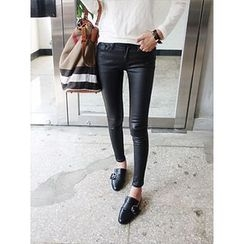 hellopeco - Cotton Blend Skinny Pants