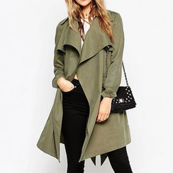 Fashion Street - Plain Ruffle Coatdress