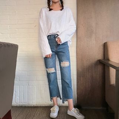 Bloombloom - Distressed Jeans