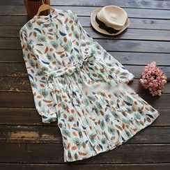 YOYO - Long-Sleeve Printed Shirtdress