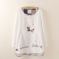 Tangi - Embroidered Linen-blend Tunic