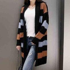 Birdwatch - Striped Long Cardigan