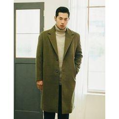 STYLEMAN - Notched-Lapel Single-Button Coat
