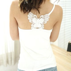 Little Flower - Lace Panel Camisole Top