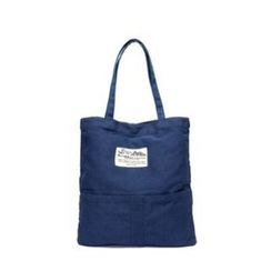 LISEN - Applique Canvas Shopper Bag