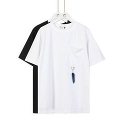 Momewear - Short-Sleeve Feather-Accent T-Shirt