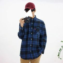 Seoul Homme - Pocket-Front Checked Shirt