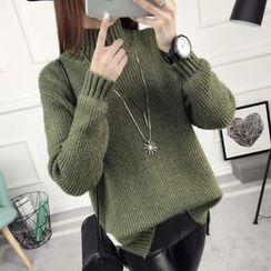 anzoveve - High Neck Thick Sweater