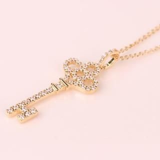 Supermary - Rhinestone Key Necklace