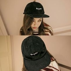 FROME - Lettering Embroidered Corduroy Baseball Cap