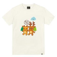 the shirts - 'Don't Cry' Deer Print T-Shirt