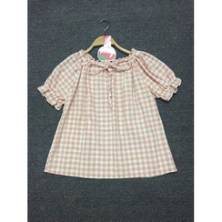 GOGO Girl - Plaid Short-Sleeve Blouse