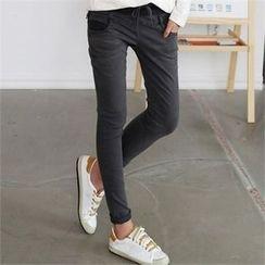 CHICFOX - Drawstring Appliqué Pants