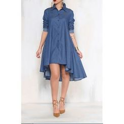 Dream a Dream - Dip Back Chambray Shirtdress