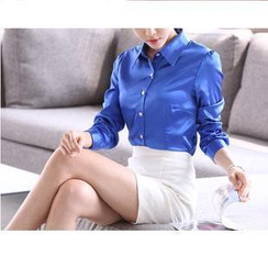 Sienne - Long-Sleeve Satin Shirt
