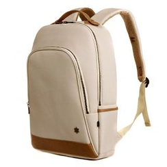 Asphalt - Faux-Leather Panel Backpack