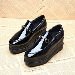 Chryse - Platform Faux Patent Leather Loafers
