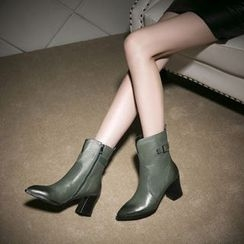 Kireina - Genuine Leather Ankle Boots