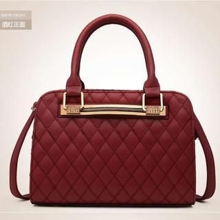 Heilin - Faux-Leather Quilted Satchel