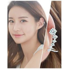Miss21 Korea - Rhinestone Piercing Ear Cuff (Single)