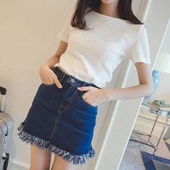 Wimi girls - Plain Short-Sleeve T-Shirt
