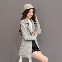 Romantica - Wool Blend Notched-Lapel Buttoned Coat