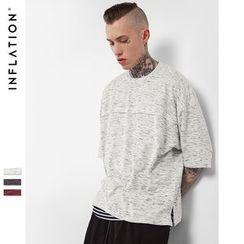 Newin - Elbow-Sleeve Melange T-Shirt