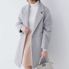 ELLY - Woolen Notched Lapel Coat