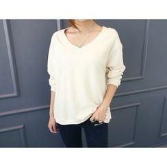 DANI LOVE - V-Neck Colored Pullover