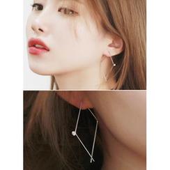 kitsch island - Rhinestone Threader Earrings