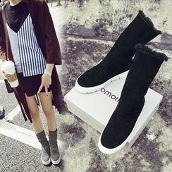 Sidewalk - Platform Mid Cuff Boots